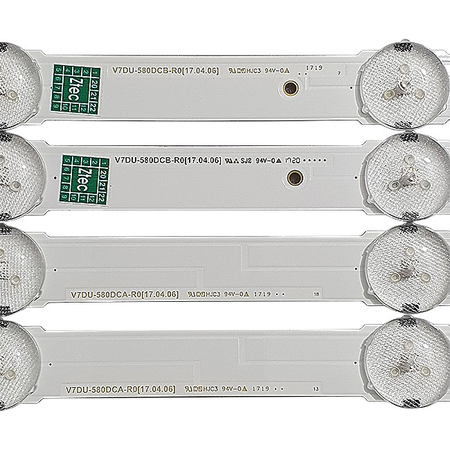 KIT 14 BARRAS LED SAMSUNG - Modelo UN58MU6120G | Código V7DU-580DCA / DCB