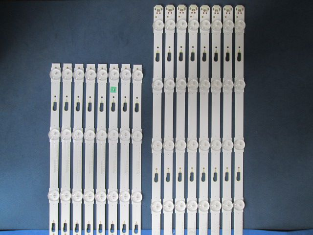 KIT 16 BARRAS DE LED SAMSUNG UN65JU6000G 8X LM41-00121E 8X LM41-00121F