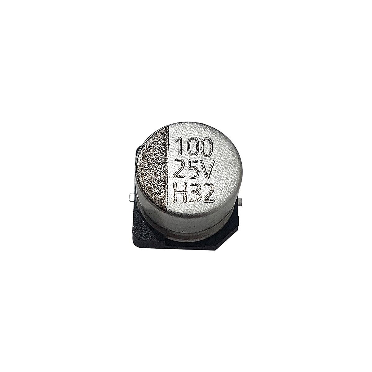 KIT 20 PEÇAS - CAPACITOR ELETROLÍTICO SMD 100uF 25V