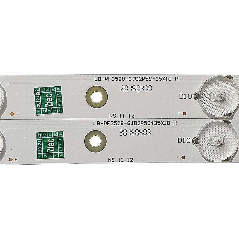 KIT 2 BARRAS DE LED AOC - Modelo LE43D1452 | Código LB-PF3528-GJD2P5C435X10-H