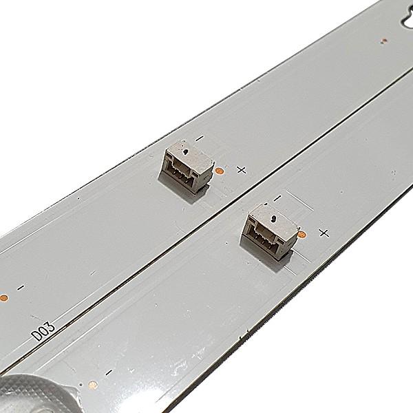 KIT 2 BARRAS DE LED SEMP TOSHIBA - Modelo L28D2900 | Código DS-4C-LB2804-YM01J