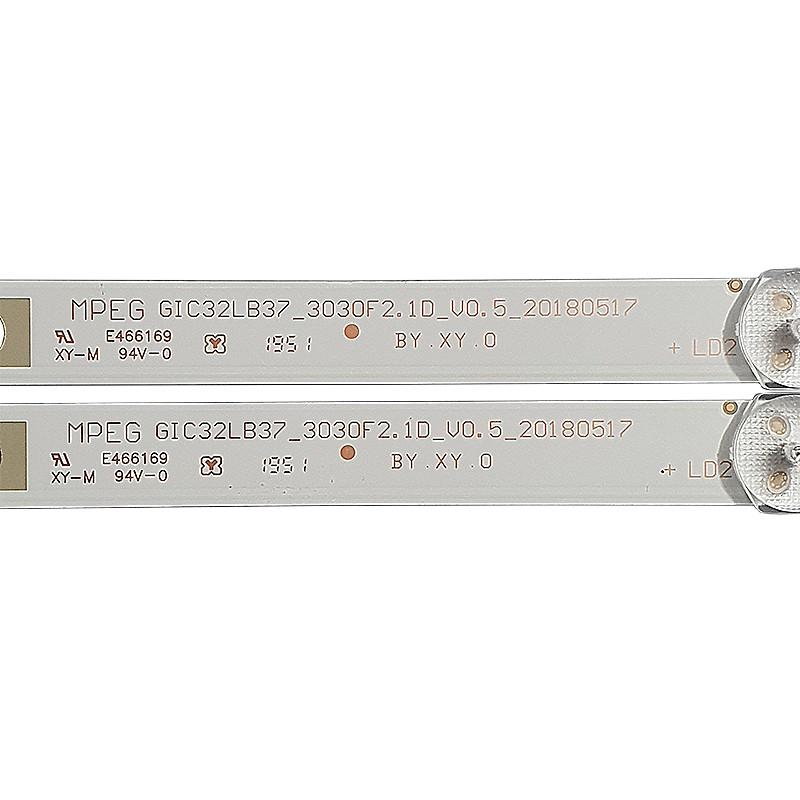 KIT 2 BARRAS DE LED TCL MODELO 32S321 CÓDIGO GIC32LB37_3030F2.1D_V0.5