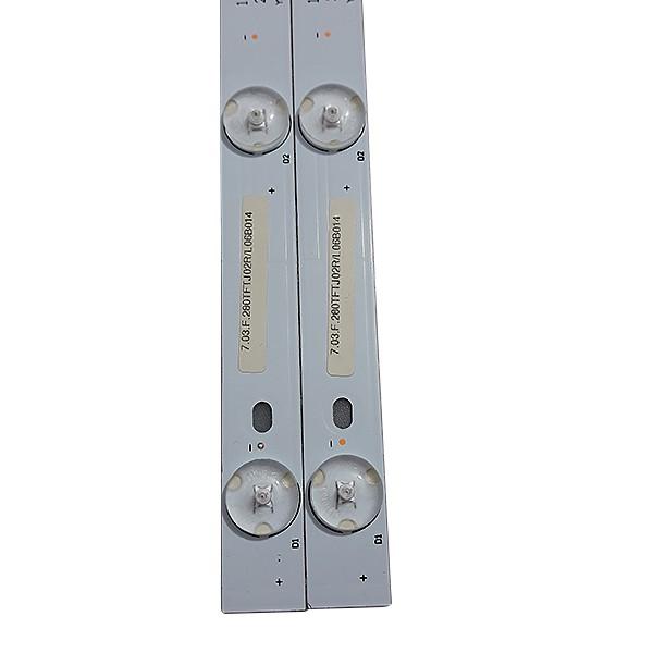KIT 2 BARRAS LED PHILCO - Modelo PH28N91D | Código 1.30.1.280N91003R / 280N91M02X7-C0050