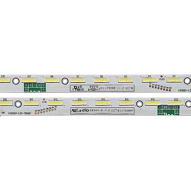 KIT 2 BARRAS LED PHILIPS - Modelo 58PUG6900/78 | Código V580D1-LS1-TLEM7