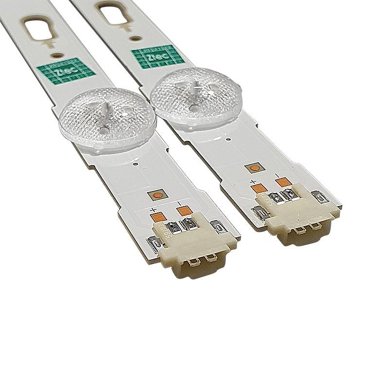 KIT 2 BARRAS LED SAMSUNG LM41-00121H UN48JU6000G / UN48JU6400AF / UN48JU7500F