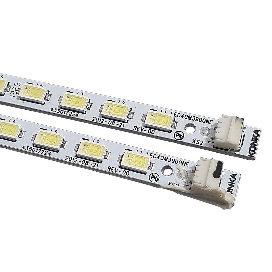 Kit 2 Barras de Led Semp Toshiba LE4057I(A) 35017224 LED40M3900NE