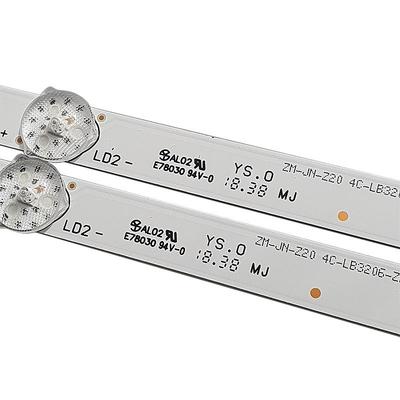 KIT 2 BARRAS LED TCL SEMP TOSHIBA L32S4700S OEM32LB37_LED3030_V0.4_20170613