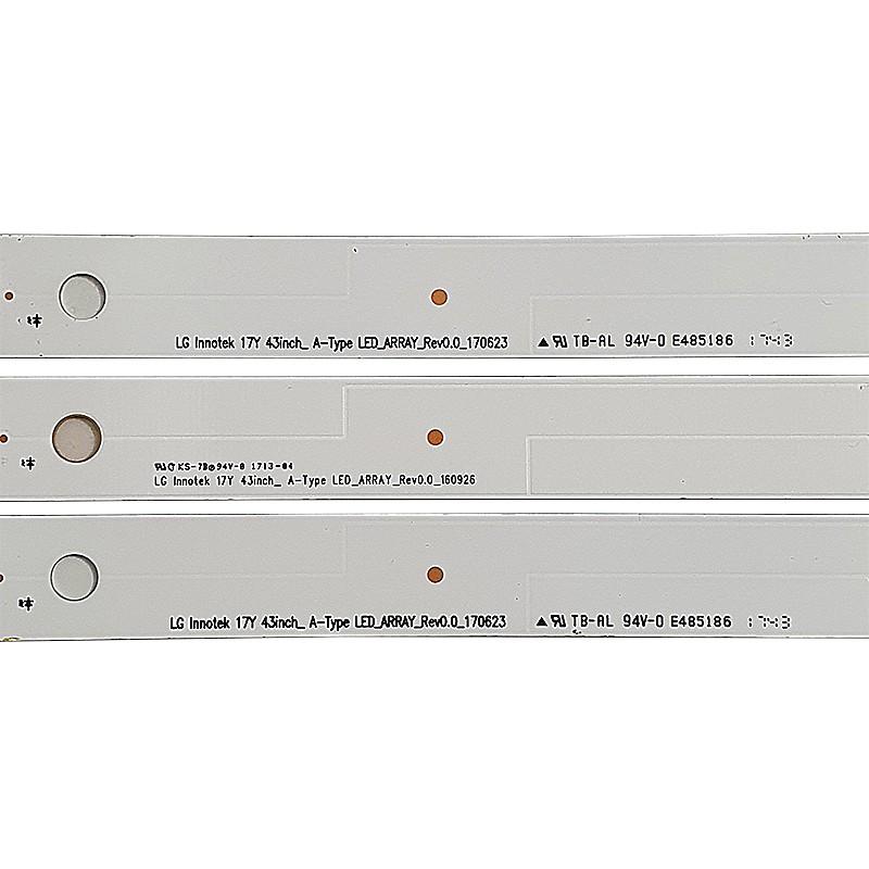 KIT 3 BARRAS DE LED 43UJ6300 43LJ550 LC43490059A
