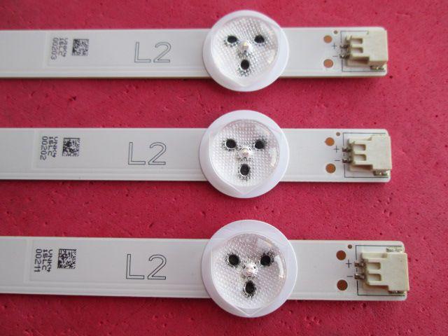 KIT 3 BARRAS DE LED LG MODELO 50LN5400 / 50LA6200 CÓDIGO 6916L-1272A  L2