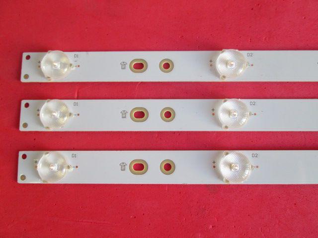 KIT 3 BARRAS DE LED PHILIPS MODELO 32PHG5201/78 CÓDIGO GJ-2K16 D2P5-315-D307-V1.1