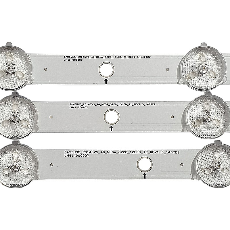 KIT 3 BARRAS DE LED SAMSUNG UN40H5100AG / UN40H5103AG 2X LM41-00090X + 1X LM41-00090Y