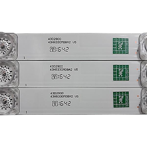 KIT 3 BARRAS DE LED TCL - Modelo L43S4700 / L43S4900FS | Código 43D2900 43HR330M08A2 V5
