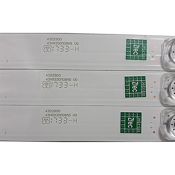 KIT 3 BARRAS DE LED TCL - Modelo L43S4900FS / L43S4900   Código 43D2900 / 43HR330M08A5 V0