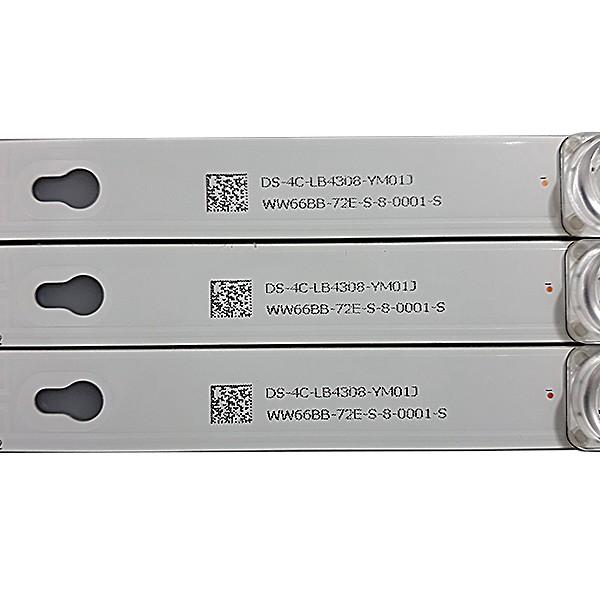 KIT 3 BARRAS DE LED TCL / TOSHIBA - Modelo L43S4900FS / L43S4900 / 43D2900 | Código 2D02636 REV. I / K DS-4C-LB4308-YM01J