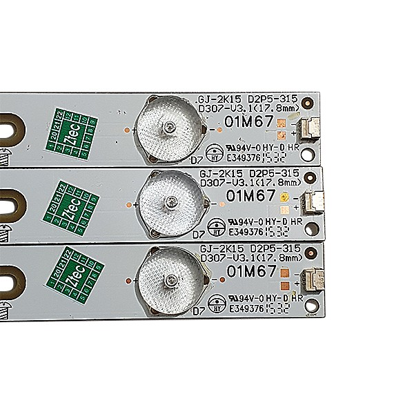 KIT 3 BARRAS LED AOC PHILIPS MODELO LE32H1461 32PHG4900 CÓDIGO GJ-2K15 D2P5-315 D307-V3.1