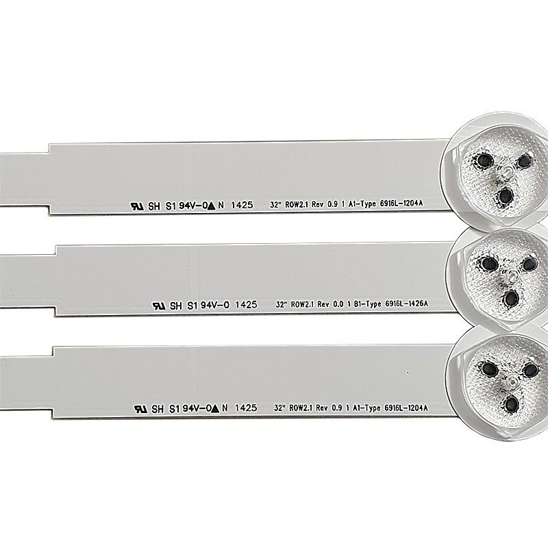 KIT 3 BARRAS LED LG - Modelo 32LN5400 / 32LN570B / 32LA613B / 32LN540B