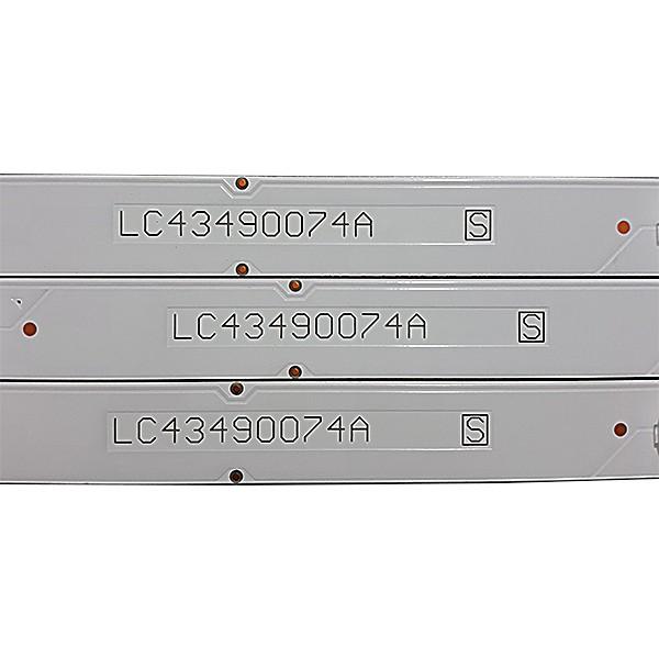 KIT 3 BARRAS LED LG - Modelo 43UK6310 | Código LC43490074A