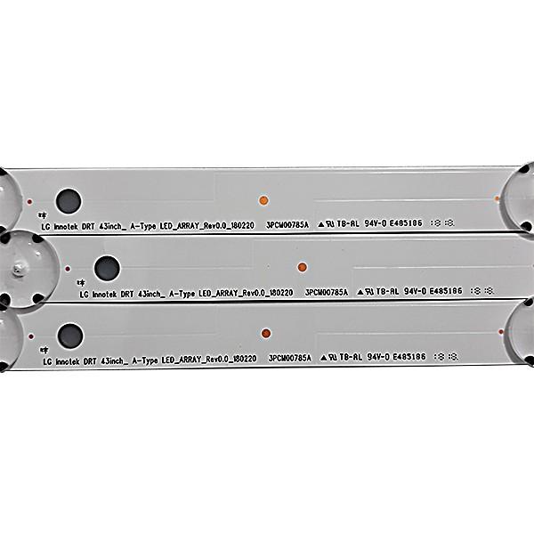 KIT 3 BARRAS LED LG - Modelo 43UK6310 | Código LC43490086A