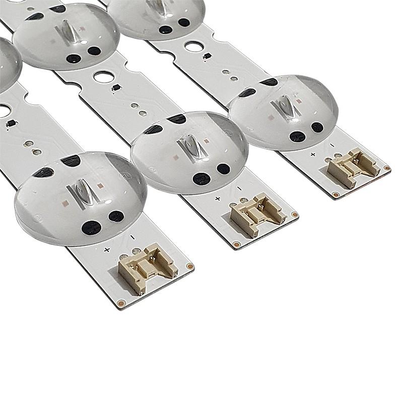 KIT 3 BARRAS LED LG - Modelo 43UK6510   Código SSC_TRIDENT_43UK65_S 43UK65(LGD)_8LED_SVL430A62_REV1.0_171201 / EAV63992501