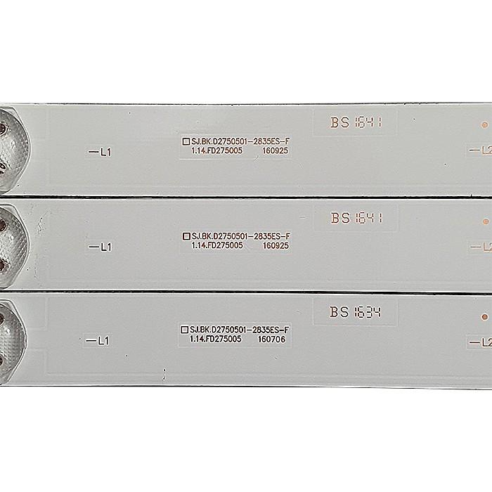 KIT 3 BARRAS LED PHILCO PH28D27D 1.14.FD275005 / SJ.BK.D2750501-2835ES-F