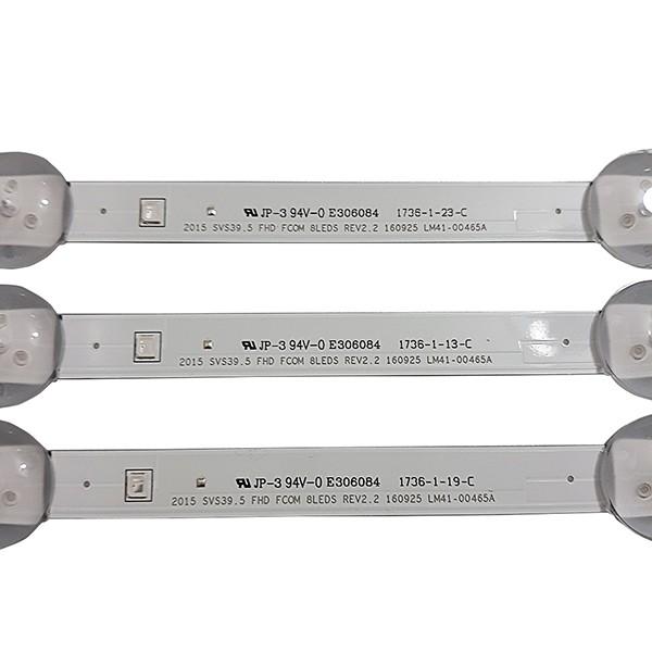 KIT 3 BARRAS LED SAMSUNG - Modelo UN40J5200 / UN40J5200AG | Código LM41-00465A REV2.2 SVS39.5