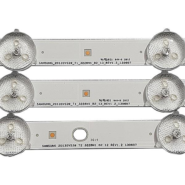 KIT 3 BARRAS LED SAMSUNG - Modelo UN39FH5205G / UN39FH5206G / UN39FH5203G | Código 29032A / 29033A