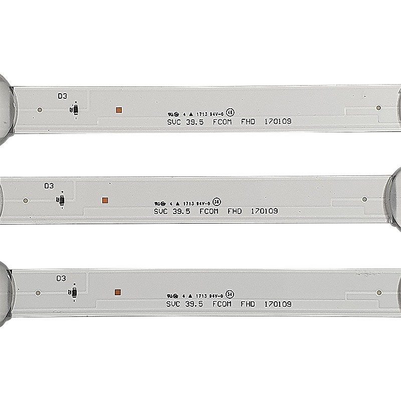 KIT 3 BARRAS LED SAMSUNG - Modelo UN40J5200 | Código SVC 39.5 FCOM FHD 170109 37622A