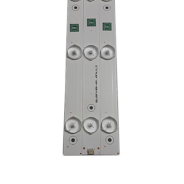 KIT 3 BARRAS LED SEMP TOSHIBA - Modelo DL4077 | Código SDL400FY(QD0-400)_40E36_A_X1 / B_X2