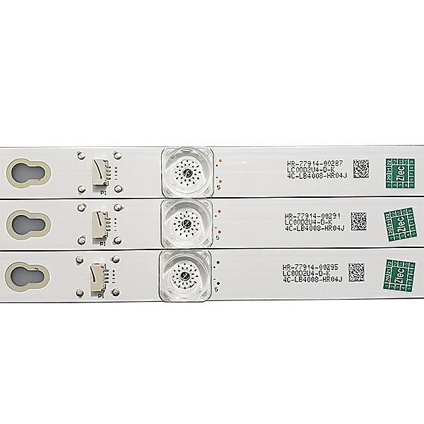 KIT 3 BARRAS LED TCL - Modelo 40L2600 / L40D2900F | Código 40D2900 40HR330M08A6 V8