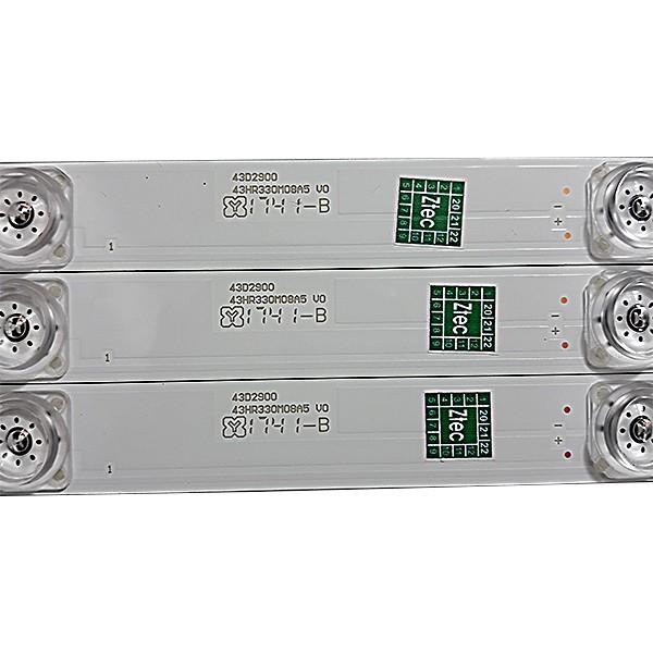 KIT 3 BARRAS LED TCL / Semp Toshiba - Modelo L43S4900 / L43S4900FS   Código 43D2900 / 43HR330M08A5 V0
