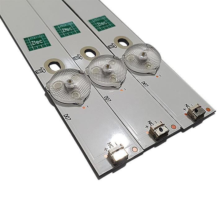 KIT 3 BARRAS LED AOC LE32S5970 2D03427 REV. B SHINEON 210BZ07D0B336BC00S