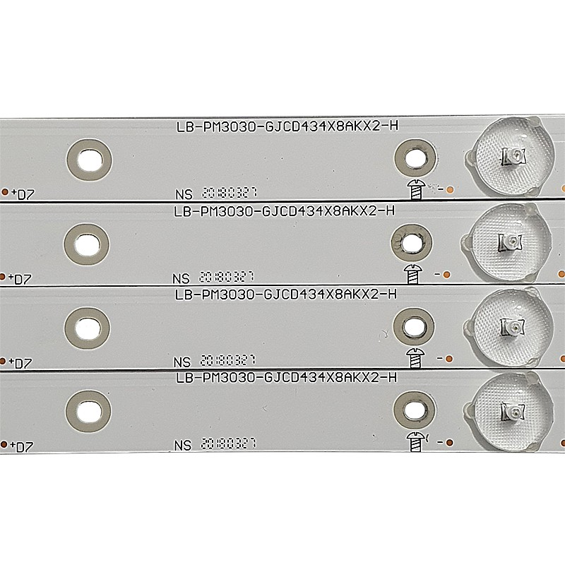 KIT 4 BARRAS LED AOC - Modelo LE43S5970 | Código LB-PM3030-GJCD434X8AKX2-H / 210BZ08D0B333BH02X