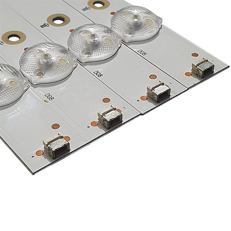 KIT 4 BARRAS LED AOC LE43S5970 SHINE ON 2D03316 / REV.F 210BZ08D0B333BH065
