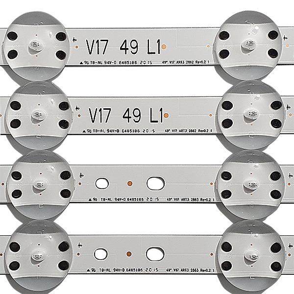 KIT 4 BARRAS LED LG 49UJ6525 49UJ6565 49UJ6585 AGF30001101