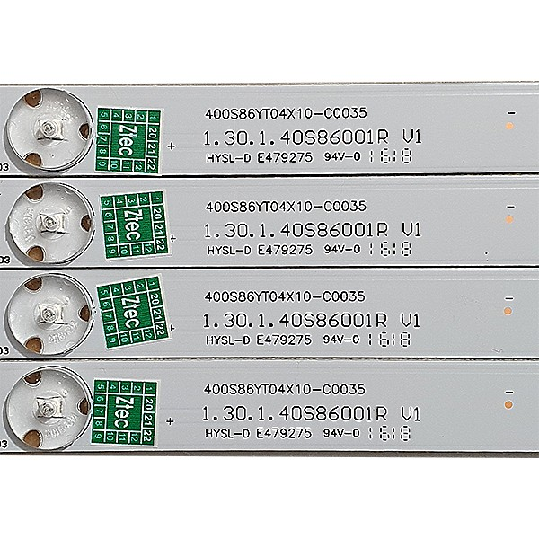 KIT 4 BARRAS LED PHILCO PH40R86DSGW 1.30.1.40S86001R V1 400S86YT04X10-C0035