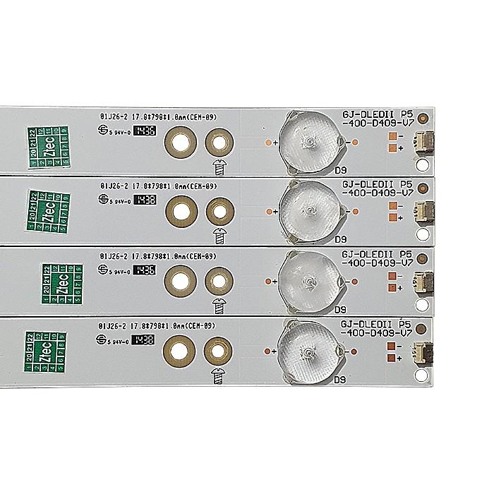 KIT 4 BARRAS LED PHILIPS MODELO 40PFG4309/78 CÓDIGO GJ-DLEDII P5-400-D409-V7