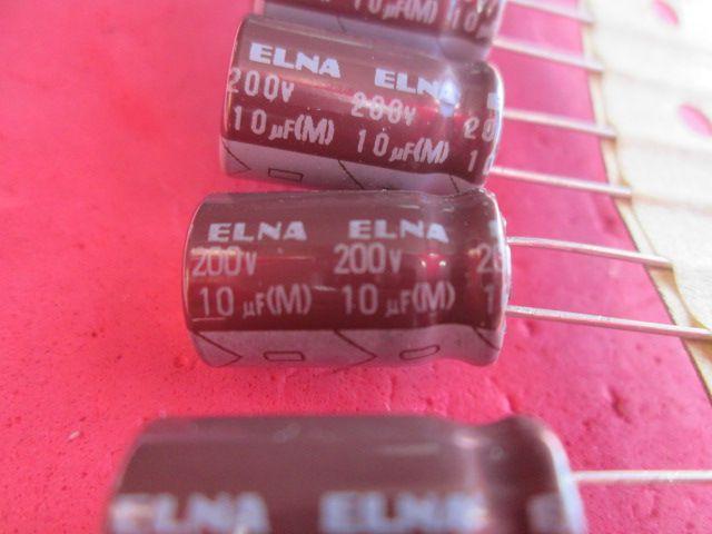 CAPACITOR ELETROLÍTICO  10uF x 200V 105º C ELNA KIT 50 PÇS
