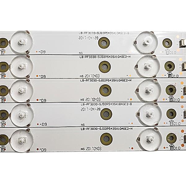 KIT 5 BARRAS LED AOC LE43S5970 LB-PF3030