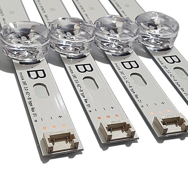KIT 8 BARRAS DE LED LG 42LB5800 42LB6500 4X 6916L-1956C + 4X 6916L-1957C