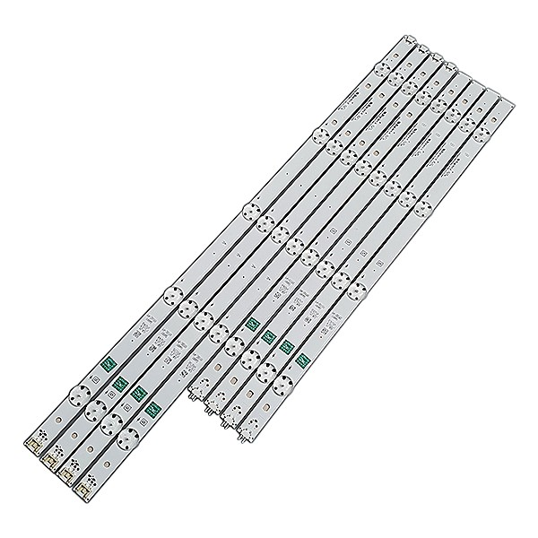 KIT 8 BARRAS LED LG 49LH5700 GAN01 0938C-P1+ GAN01 0938D-P1 REV. 01