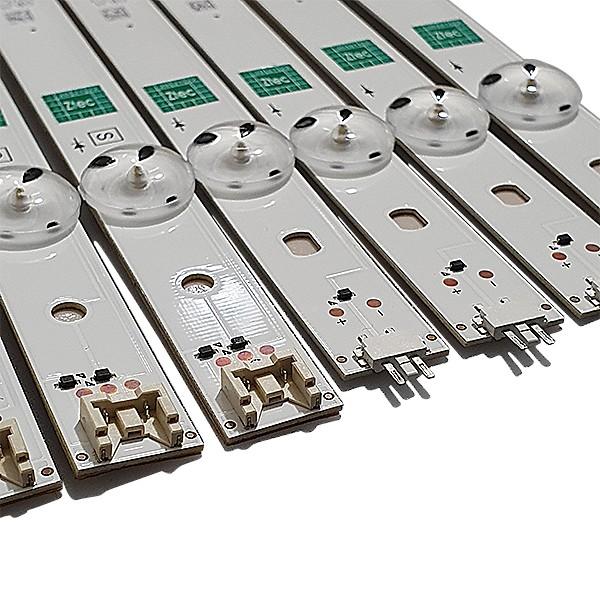 KIT 8 BARRAS DE LED LG - Modelo 49LH5700 | Código GAN01 0938C-P1+ GAN01 0938D-P1 REV. 01