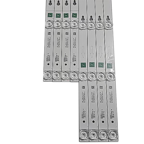 KIT 8 BARRAS DE LED TCL - Modelo 49D2900 / 49L2900 | Código 49HR330M04B0 V6 / 49HR330M05A0 V6