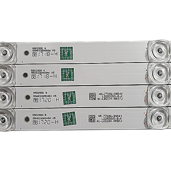 KIT 8 BARRAS DE LED TCL MODELO L55S4900FS 55D2900 A / B 55HR330M05A6  CÓDIGO 55HR330M04B6 V5