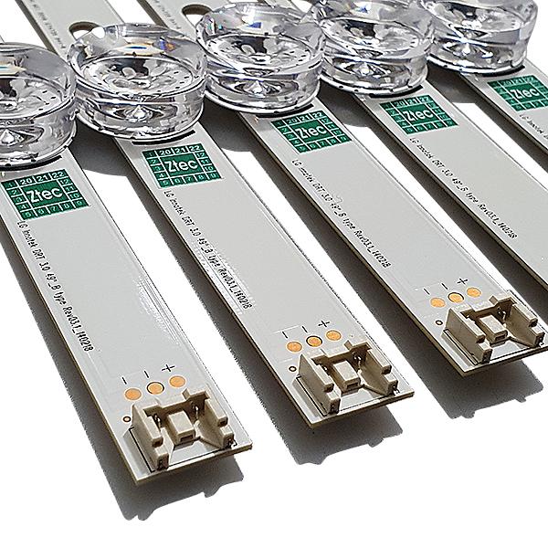 KIT 10 BARRAS LED LG 49LB5500 49LB5600 49LB6200 49LF5500 5xA 5xB AGF78402201