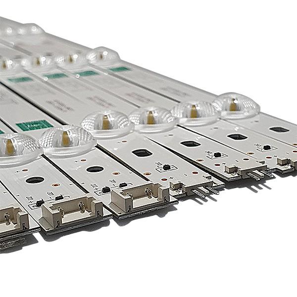 KIT 8 BARRAS LED LG 49LJ5500 49UK6310 49UK6310PSE GAN01-1379A-P1 GAN01-1380A-P1