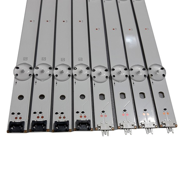 KIT 8 BARRAS LED LG - Modelo 49LF5100 49LH5700 49LH6200 | Código GAN01 0936A + GAN01 00936B REV05
