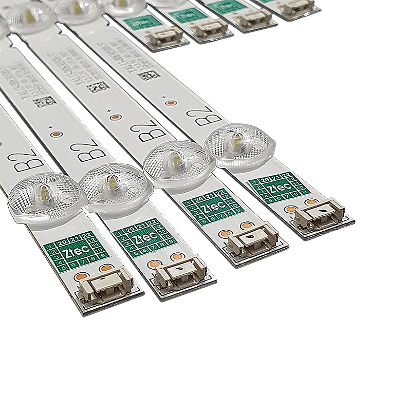 KIT 8 BARRAS LED PHILCO - Modelo PTV55U21DSWNT   Código 4x RF-AZ550E30-0501A-20 A2 B1 / 4x RF-AZ550E30-0601B-20 B2