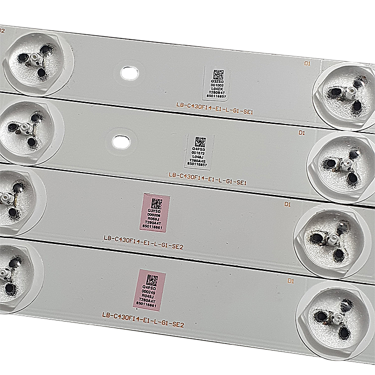 KIT 8 BARRAS LED PHILCO PH43U21DSGW LB-C430F14-E1-L-G1-SE1 / LB-C430F14-E1-L-G1-SE2