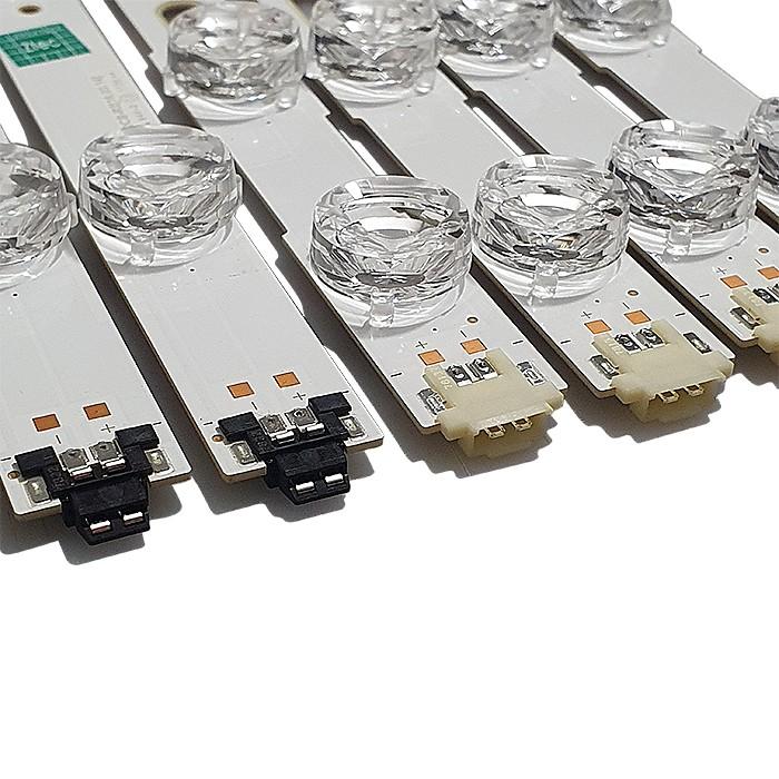 KIT 8 BARRAS LED SAMSUNG - Modelo UN43MU6100G | Código 4x V6DU-430DCA-R2 + / 4x V6DU-430DCB-R2