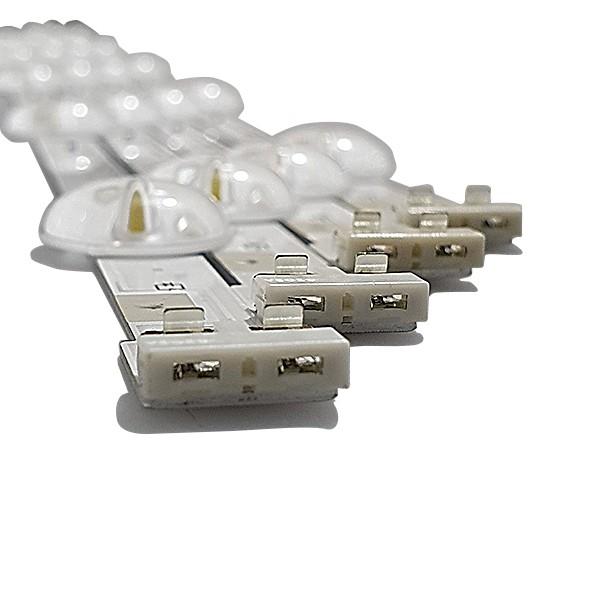 KIT 8 BARRAS LED SAMSUNG - Modelo UN49J5200 / UN50J5200 | Código LM41-00145A / LM41-00146A REV. 1 37774A / 37775A